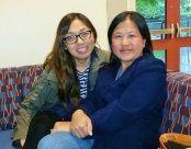 Student organizers Melissa Vang (l) and Vicky Xiong- Lor (r).