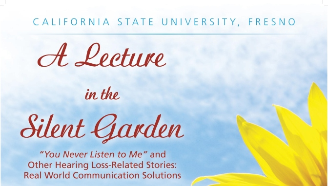 In the News: Lecture in the Silent Garden to address hearing loss and communication