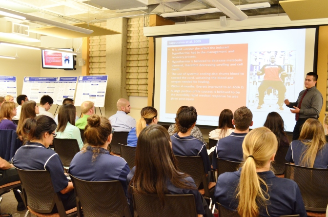 Athletic Training students present research at inaugural showcase