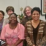 With just some of the College of Health and Human Services staff.