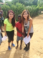 Kathy Nguyen (r) & one of the school kids whom inspired her.