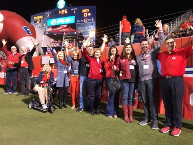 The 2017 Top Dogs enjoy the Fresno State Homecoming Game. Oct. 14, 2017.