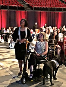 Nancy & CHHS Dean, Jody Hironaka-Juteau taking in the Top Dog Alumni Awards. Oct. 13, 2017